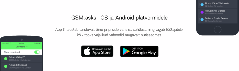 GSMtasks iOS Android app